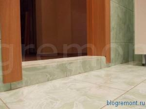 как сделать порог в ванной