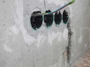 подрозетники в бетоне