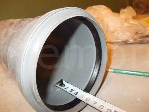 глубина канализационных труб