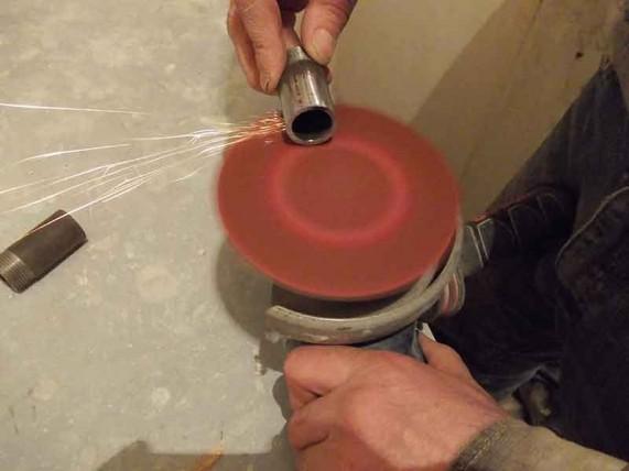 зачистка труб для сварки
