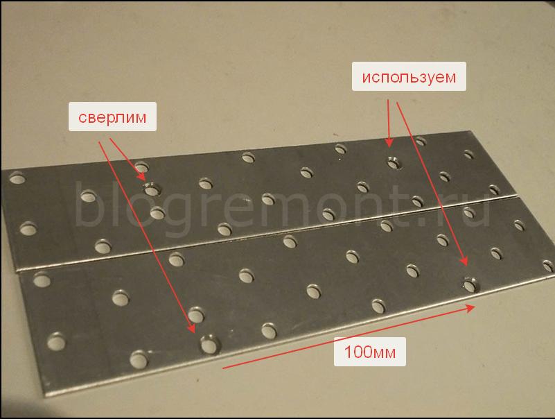 размечаем панель для сверления
